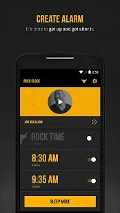 The Rock Clock™- awesome new FREE alarm app