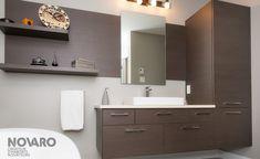 Salle de bain - Choco royal - Armoires de cuisines Québec | Clé en main | Novaro