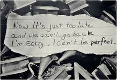 I can't be perfect!