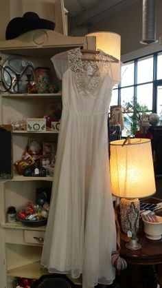 Gorgeous vintage wedding dress from Becky Lee in the Antique Warehouse Too! :) only $68.75