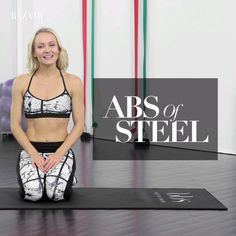 Tighten up your core and get abs of steel using a few simple moves. Tighten up your core and get abs of steel using a few simple moves. Fitness Workouts, Fitness Goals, Yoga Fitness, At Home Workouts, Health Fitness, Physical Fitness, Low Ab Workout, Dumbbell Workout, Fitness Inspiration