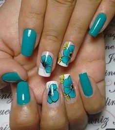 Mani Pedi, Manicure, Nails, Nail Designs, Nail Art, Album, Blue Nails, Nail Bling, Stuff Stuff