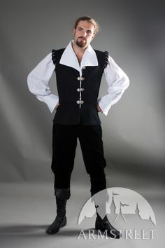 Renaissance Noble Medieval Shirt And Vest Costume