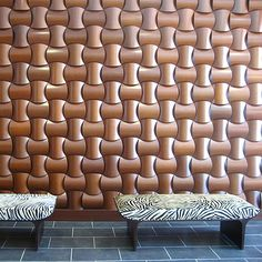 WOVIN: wall tiles create a woven effect