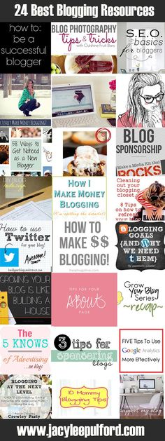 Jacy Lee Pulford: The 24 Best Blogging Resources {Link Roundup}