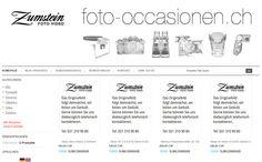 Beim dritten OSCommerce Onlineshop für die Firma Foto Video Zumstein in Bern innert 4 Monaten wurde das Webdesign optimal realisiert.