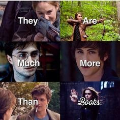 Divergent, the mortal instruments, the hunger games, Harry potter , Percy Jackson , the fault in our stars