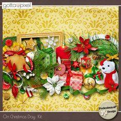 On Christmas Day Digital Scrapbook Kit. $5.99 at Gotta Pixel. www.gottapixel.net/