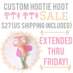 Custom Hootie Hoot SALE! http://www.stitchedboutique.com/products