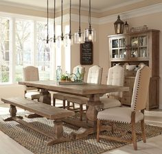 Farmhouse reclaimed wood double trestle table quick view compare add to cart. Farmhouse Dining Room Table, Dining Room Table Decor, Trestle Dining Tables, Dining Room Design, Dining Room Furniture, Dining Bench, Country Furniture, Farmhouse Furniture, Furniture Design