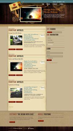 Grunge #WordPress #Theme