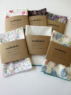 Single Modern Patterned Handkerchief, Washable & Reusable (and adorable!) Hand Sewn, Floral Hankie by wrenbirdarts Packing Box Design, Packing Boxes, Bussines Ideas, Etsy Handmade, Handmade Gifts, Tshirt Business, Sewing Studio, Hand Sewing, Unique Gifts