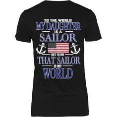 To the world my daughter is a sailor - Back Design