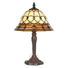 Handmade table lamp ANTHEA in an antique Tiffany style