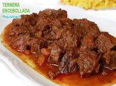 carne al toro, una comida tápica de la gastronomáa gaditana, y lo mismo la carne como la salsa quedan realmente deliciosas. Carne Asada, Minis, Salad Recipes, Mexican, Meat, Cooking, Food, Gastronomia, Meat Recipes