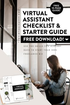 Download the free Virtual Assistant Checklist & Starter Guide! Here's my free step-by-step checklist I used to start my virtual assistant business from scratch. Now you can do the same thing! #VirtualAssistant #freelancebusiness #girlboss #OnlineBusiness #WorkFromAnywhere Small Business Plan, Work From Home Business, Work From Home Jobs, Business Planning, Creative Business, Business Tips, Online Business, Bookkeeping Business, Virtual Assistant Services