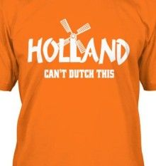 Dutch World Cup Holland Inspired Ladies Football Personalised T-shirt Gift