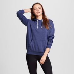 Women's Pullover Hooded Sweatshirt Navy (Blue) Xxl - Mossimo Supply Co.