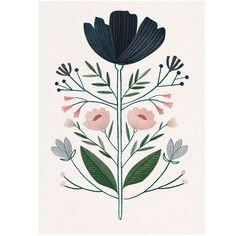 blommer; by Clare Owen Art And Illustration, Flowers Illustration, Floral Illustrations, Portrait Illustration, Motif Floral, Floral Prints, Art Prints, Illustration Botanique, Arte Popular