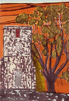 Tower Tree 4 - Liz Somerville Modern Words, Lino Prints, Art Pages, Printmaking, Hand Carved, Stamps, Tower, Carving, Artists