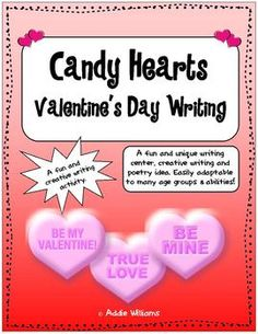 Candy Hearts / Conversation Hearts Writing Pack ($)
