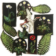 These EllieMAC Designs.embroidery patches would be amazing for DIY-Ing the denim - Mens Gucci - Ideas of Mens Gucci - These EllieMAC Designs.embroidery patches would be amazing for DIY-Ing the denim mens jacket that has all over the runways now Embroidery Patches, Diy Embroidery, Machine Embroidery, Embroidery Designs, Ellie And Mac, Embroidery Fashion, Pin And Patches, Diy Patches, Cute Pins