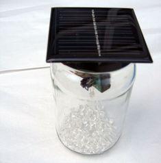 Make a solar garden lamp out of a jam jar (Beginning DIY for kids?  Window night light?)