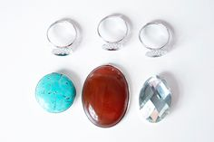 Or so she says...: DIY Oversized Cocktail Rings ~ Cheap, Easy, & Awesome! (she: Natalie)