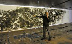 cai guo qiang | Cai Guo Qiang's Public Gunpowder Drawing Making Tides for His Solo ...