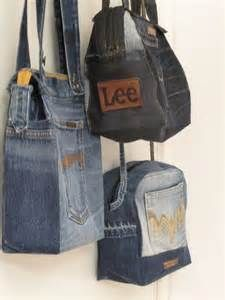 Handkraft & Återbruk - recycling jeans | Jeans-denim bags | Pinterest