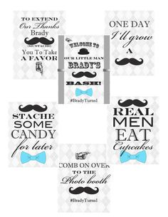 Printable Party Signs 6 Little Gentleman Party by HeartyDetails