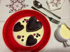 Ada en la Cocina: Corazones de pasta de Cacao rellenos de Crema de q...