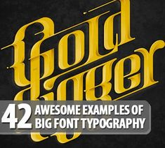 52 Awesome Examples Of Big Font Typography