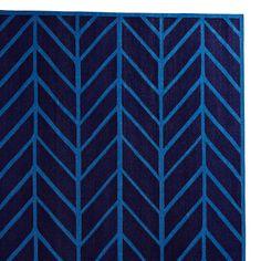 Feather Rug – Navy/Cobalt   Serena  Lily