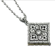 Sotheby's Diamond and enamel pendant watch Cartier 1915 mm