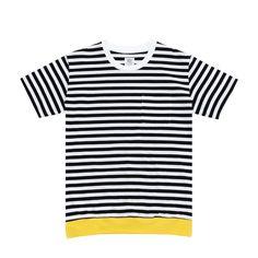 Mr.GENTLEMAN / ミスタージェントルマン|COLOR RIB BORDER S/S TEE - Black × Yellow | 通販 - 正規取扱店 | COLLECT STORE / コレクトストア