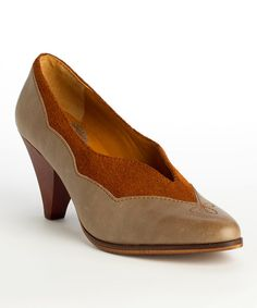 Look at this Latigo Light Gray Hayden Leather Pump on #zulily today!