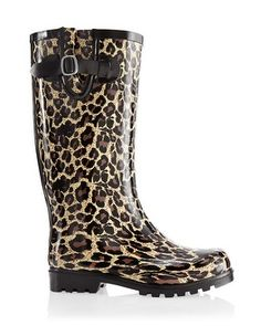 Chico's Nomad Leopard Puddles Rain Boot - I think I need these considering where I live.  Stylish AND functional!!!