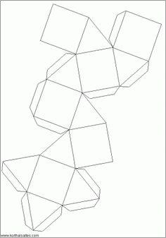 desarrollo plano de uncuboctaedro