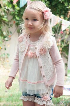 Baby Doll Vintage Pink Cardi Preorder 12 Months to 6 Years