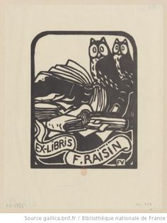 Ex-libris F. Raisin : [estampe] / Félix Vallotton