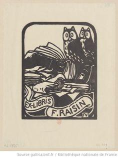 Ex-libris F. Raisin : [estampe] / Félix Vallotton