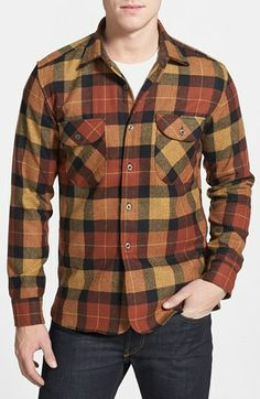 Pendleton 'Oliver' Plaid Wool Flannel Shirt available at #Nordstrom