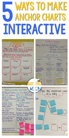 """The best way to ensure that anchor charts don't become wallpaper is to make them interactive. If kids can interact with charts, they are more likely to learn the content and strategies that the chart represents. Also, having their own handwriting on a chart, or their own work, can give them ownership over that learning. And the more times we refer to a previous """"anchor"""" lesson, the more it will solidify in kids' brains. So here are a few ways to do just that!"""