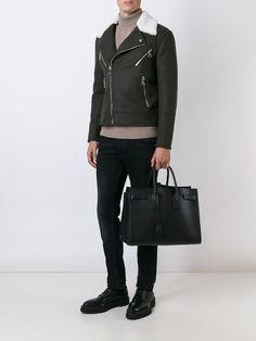 Men's Totes, Saint Laurent Bag, Logo Stamp, Hermes Birkin, Everyday Outfits, Saints, Women Wear, Black Leather, Mens Fashion