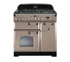 Buy RANGEMASTER Classic Deluxe 90 Dual Fuel Range Cooker - Latte & Chrome | Free Delivery | Currys