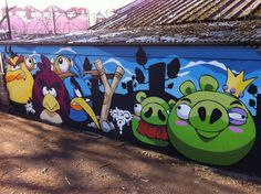 Angry Birds Graffiti by Cheo