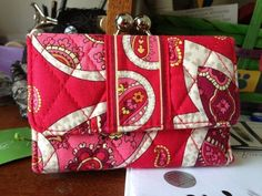 Vera Bradley-Kisslock Wallet-Rosy Posies-NWT. Starting at $12 on Tophatter.com!