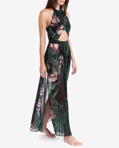 Palm maxi cover up - Black | Swimwear & Beachwear | Ted Baker