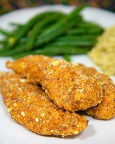 Cajun Cornbread Crusted Chicken Tenders - only 5 ingredients! Chicken, Jiffy mix, cajun seasoning, flour and eggs. Control the heat by adjusting the cajun seasoning. Baked not fried! Ready in about 15 minutes! Crusted Chicken, Breaded Chicken, Chicken Tenders, Fried Chicken, Creole Recipes, Cajun Recipes, Chicken Recipes, Turkey Recipes, Cajun Food